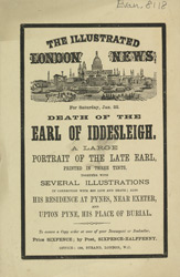 Advert for the Illustrated London News, newspaper